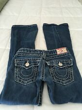 TRUE RELIGION JOEY BIG T 27x33, White Stitch, 5 Pocket, Twisted Seams, GUC