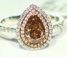 1.92CT 18K Gold Natural Round Cut Solitaire Diamond Vintage Engagement Ring Deco