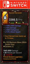 Diablo 3 [SOFTCORE] Nintendo Switch - Primal Sacred Harvester Weapon