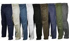 Mens Elasticated Stretch Waist Rugby Trousers 30-48 Comfortable Draw Cord Tie