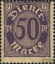 Duits Empire D21 postfris MNH 1920 Officieel stempel