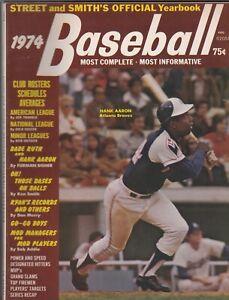 1974 STREET & SMITH Baseball Yearbook HANK AARON Atlanta Braves Vintage Magazine