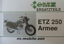 Ersatzteilliste MZ ETZ 250 ZIVIL & ARMEE NVA Militär Ersatzteilkatalog