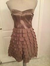 Reiss Strapless Tan Dress US Size 8 UK Size 12