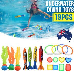 Swimming Pool Diving Toys Underwater Rings Diving Set Kids Play Water Fun Gift