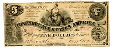 1861   $5   Confederate Currency