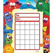 Furry Friends Reward Incentive chart pad + 200 Free Chart sized Stickers