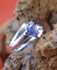Schöner Tansanit Brillant Ring in 585 Weißgold