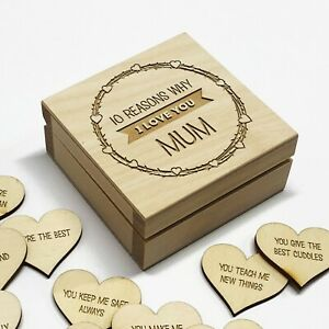 Personalised 10 Reasons Why I Love You Mother's Day Gift Box Mum Mummy Nan Nanny