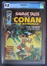SAVAGE TALES #3 CONAN Red Nails BARRY SMITH Red Sonja Femizons Steranko CGC 9.8