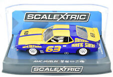 "Scalextric ""MFS"" AMC Javelin Trans Am DPR W/ Tail Lights 1/32 Slot Car C3876"