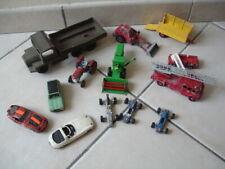 Lot véhicules voitures miniatures pour pièces ou à compléter