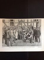 L3-1 Ephemera 1900 Picture German University Duelling Students Second Stage