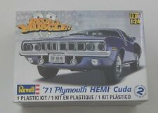 REVELL MUSCLE 1971 MOPAR PLYMOUTH 426 HEMI CUDA 1:24 MODEL KIT SEALED R6378