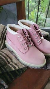 TIMBERLAND Nellie Pink Leather Waterproof Chukka Boots Women's Size6 M