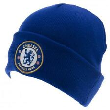 Chelsea FC Knitted Beanie Hat Cap Royal Blue With Turnup Crest