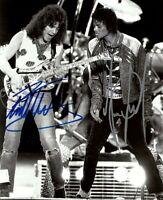 Eddie Van Halen & Michael Jackson Autographed 8x11 Photo