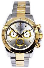 Rolex Daytona Chronograph 18k Yellow Gold & Steel Watch & Box F 116523