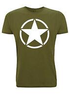 US Army Star T Shirt WW2 Military Green GI USA Willys jeep tank decal motif