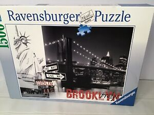 Ravensburger Jigsaw Puzzle New York City Brooklyn Bridge 1500 Pieces. Missing 1