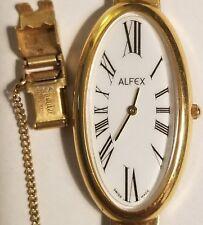 Vintage Alfex swiss made ladies quartz watch.  In excellent condition.