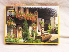 NEW Factory Sealed-1000 Piece Kodacolor Puzzle-1999 Flower House -Switzerland