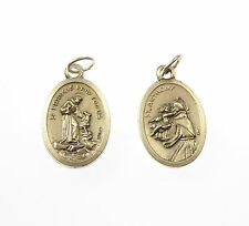 St. Francis St Anthony silver metal medal rosary beads pendant 2cm Catholic