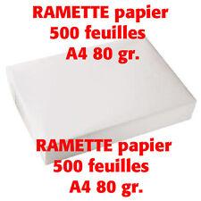 RAMETTE PAPIER  A4 80 gr - 500 FEUILLES COPIE LASER - NEUF
