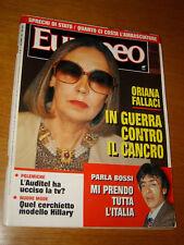 L'EUROPEO 1992/50=ORIANA FALLACI=CARMEN CERVERA=FRANCO ZEFFIRELLI=MILLARDET P.