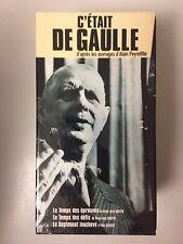 COFFRET 3 K7 VIDEO VHS C'ETAIT DE GAULLE