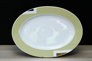 Rosenthal Bvlgari Geometrica Beige Servierplatte oval 34x24cm, 2. Wahl