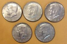 Kennedy Half Dollar Lot Of 5  40% Silver Kennedy Half Dollars 1965 - 1969 Mixed
