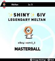 POKEMON SWORD AND SHIELD ✨SHINY✨ 6IV LEGENDARY MELTAN (FAST DELIVERY)