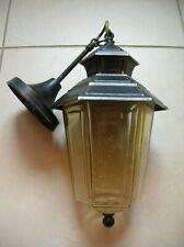 Ancienne lampe lanterne luminaire extérieure en métal et verre de 58 cm