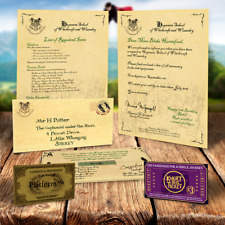 HARRY POTTER HOGWARTS PERSONALISED ACCEPTANCE LETTER CHRISTMAS QUALITY VALUE