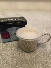 Silver Plated Duck Baby Cup Mug Boys Girls Christening Vintage & Box Highlands