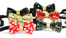 Boys Kids 100% Cotton Xmas Christmas Bow Tie Bowtie Party Wedding 1-6 YEARS OLD