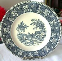 """Homer Laughlin Shakespeare Country Stratwood Collection Blue 10"""" Dinner Plate"""