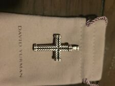 david yurman mens chevron cross .925 sterling silver