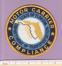 Florida Motor Carrier Compliance FL State Defunct Fla DOT Law Enf. Police Patch