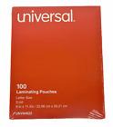 Universal Laminating Pouches, 3 mil, 9' x 11.5', 100/Box, UNV84622