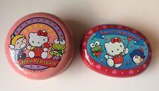 2 Vintage Japan Sanrio Puroland Heartpark Metal Candy Tin 1992 Hello Kitty