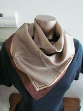 New Silk Twill Printed Purse Scarf Vintage beige Brown Sweden Alfa Laval