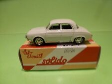 SOLIDO 5 RENAULT DAUPHINE  - BROKEN WHITE 1:43  - GOOD CONDITION IN BOX