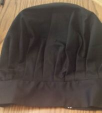 Chef Hat - Black ~ Chef Works ~ One Size Fits All ~ Poly/Cotton Mix