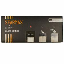 5 Gläser mit Plastikanschluss a 22ml für Sparmax SP-570 + 575 Airbrushes