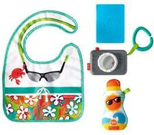 Fisher-Price Tiny Tourist Gift Set, 4 travel-themed baby toys for take-along pla