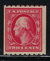 SCOTT 391 1910 2 CENT WASHINGTON REGULAR ISSUE COIL SINGLE MH OG F-VF CAT $27!