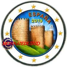 2 Euro Commémorative Espagne 2019 en Couleur Type A - Rempart d'Avila