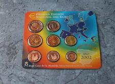 CARTERA FNMT ESPAÑA 2002 CON LAS 8 MONEDAS EURO